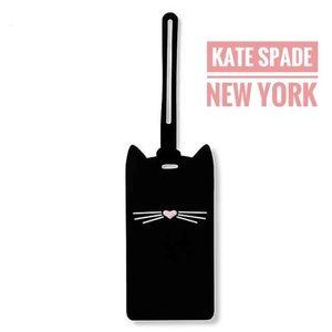NWT kate spade cat luggage tag